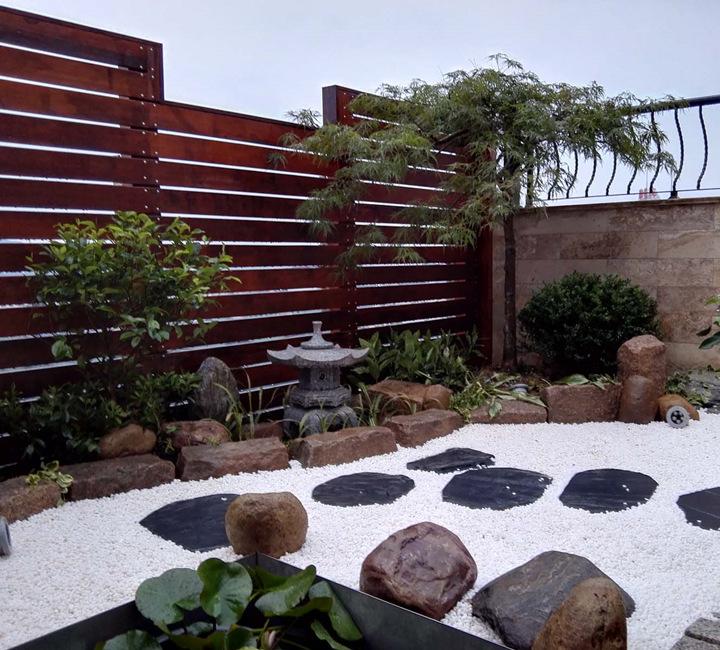 杭州平海公寓,日式屋顶花园效果图