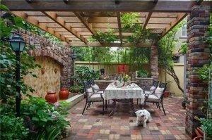 艺墅庭院,田园地中海风格庭院