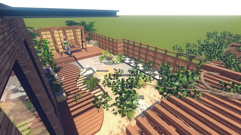 苏州双湖湾屋顶花园设计