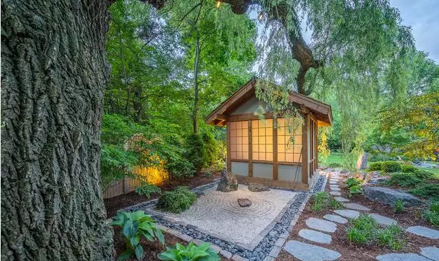 碧沙禅园,日式风格庭院景观