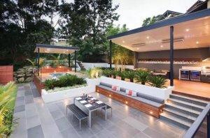 Ferntree Gully区度假式别墅花园,现代风格庭院景观