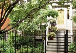 美式20平米小花园,一层庭院设计实景图片欣赏