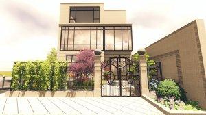 建邦唯苑63-104别墅花园,现代风格景观设计