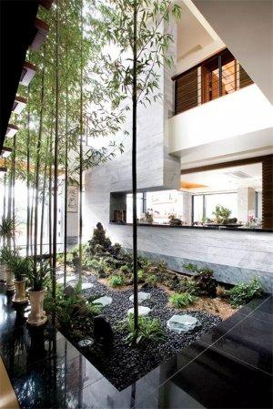 室内庭院设计效果图大全图片欣赏