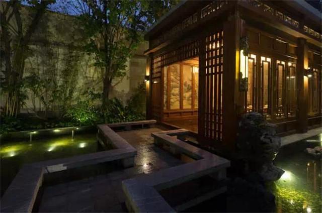 中式私家庭院设计:四季不同的花木庭院