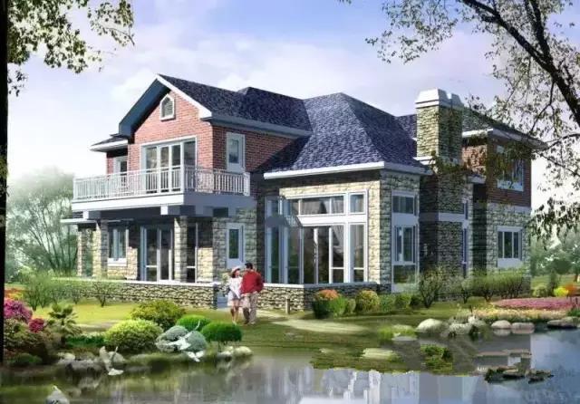 农村小型别墅庭院设计效果图大全