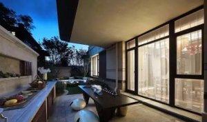新中式设计案例,别墅效果图,别墅庭院
