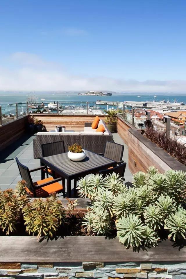 屋顶花园,现代简约庭院设计效果图大全