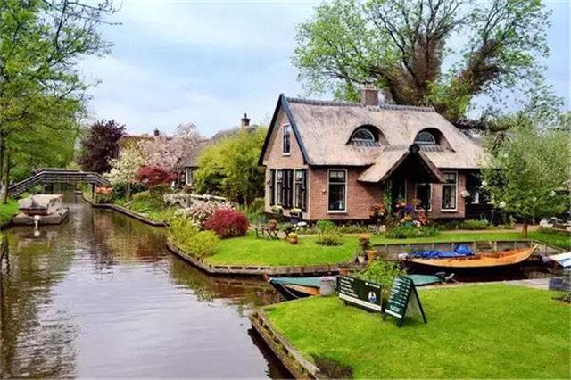 荷兰威尼斯——羊角村,优美的西式风格,庭院设计欣赏
