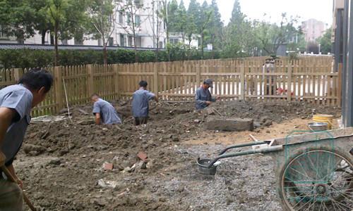 苏州名仕花园别墅庭院施工