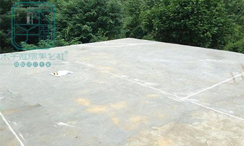 旺山酒店会所屋顶花园施工现场