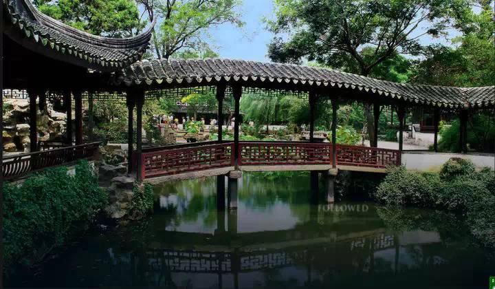 拙政园别墅,苏式风格庭园